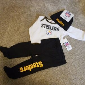 Nwt 3 piece Steelers outfit
